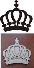 Razítko překližka koruna 9,1x9,1cm - zvětšit obrázek