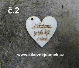 2D výřez srdce Děkujeme... vel. 3,5x3,5cm -č.2 - zvětšit obrázek