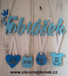 Jméno Tobiáš+narození -dekor - zvětšit obrázek