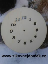 2D hodiny kulaté s vyfr.čísly pr. 24cm - zvětšit obrázek