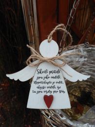 3D anděl Skvělí přátelé- 14x14cm - zvětšit obrázek