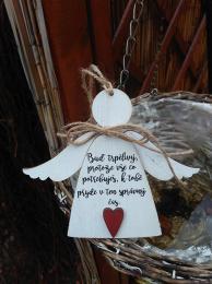 3D anděl Buď trpělivý - 14x14cm - zvětšit obrázek