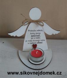 3D anděl Protože.... +čaj.svíčka - zvětšit obrázek