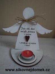 3D anděl Jsou lidé.... +čaj.svíčka - zvětšit obrázek