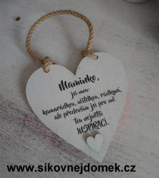 Srdce Maminko 14x14cm - zvětšit obrázek