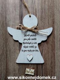 2D anděl n.t.  Skvělí přátelé -17x16cm - zvětšit obrázek