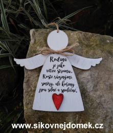 3D anděl Rodina větve- v.14x17cm - zvětšit obrázek