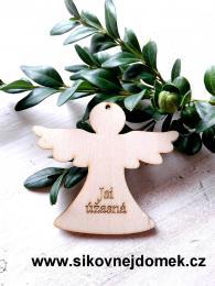 Anděl v.6x6,7cm - Jsi úžasná - zvětšit obrázek