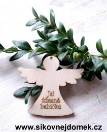 Anděl v.6x6,7cm - Jsi úžasná babička - zvětšit obrázek