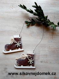 Brusličky vánoční hnědé- vločka č.2 - zvětšit obrázek