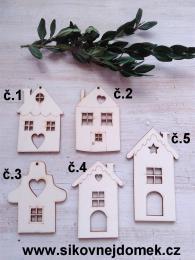 Vánoční ozdoba domeček č.2 -7x5cm - zvětšit obrázek