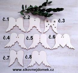 Andělská křídla č.8 - 6x9cm  - zvětšit obrázek