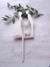 Zápich svatební nevěsta,ženich,kočička-síla mat.0,4cm - zvětšit obrázek