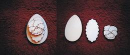 3D zápich na špejli vejce+maceška-3ks - zvětšit obrázek