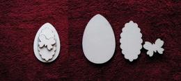 3D zápich na špejli vejce+motýl -3ks - zvětšit obrázek