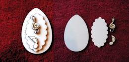3D zápich na špejli vejce+2 notičky -4ks - zvětšit obrázek