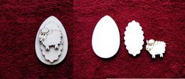 3D zápich na špejli vejce+ovečka-3ks - zvětšit obrázek