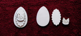 3D zápich na špejli vejce+slepička -3ks - zvětšit obrázek