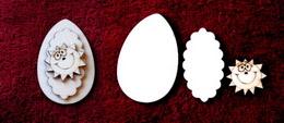 3D zápich na špejli vejce+sluníčko -3ks - zvětšit obrázek