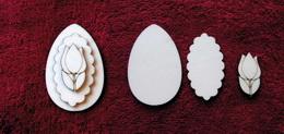 3D zápich na špejli vejce+tulipán -3ks - zvětšit obrázek