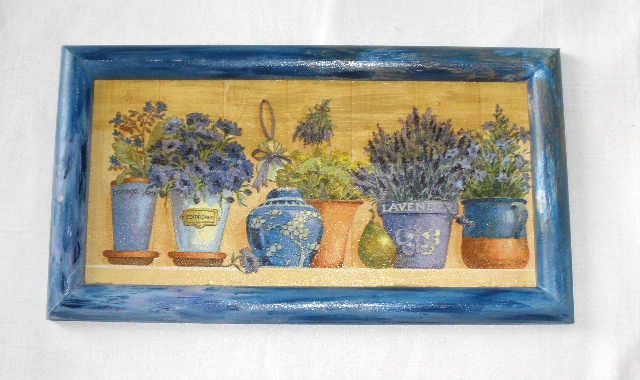 Obrázek byliny v kvìtníku cca 36, 5x20cm