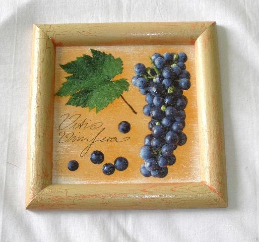 Obrázek hroznové víno cca 20x20cm
