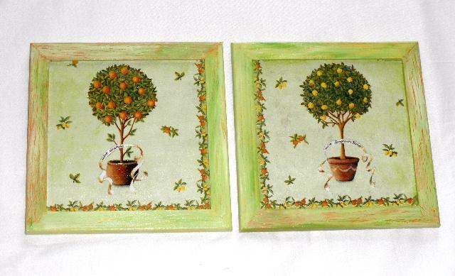 Obrázek stromek v kvìtníku - cena za 2ks