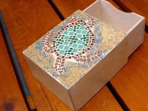 Mozaiková vysouvací krabièka ŽELVA