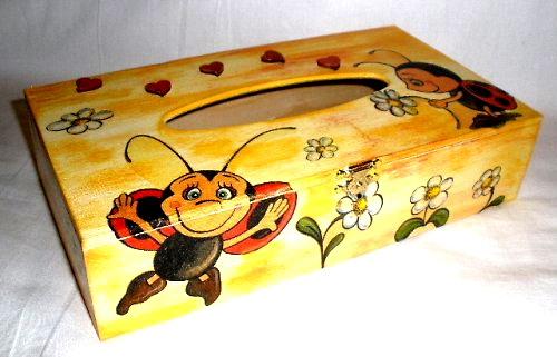 Zásobník na papírové kapesníèky - motiv berušky