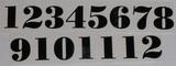 Čísla na hodiny nalepovací černá - TYP Č.18- v.1,4cm