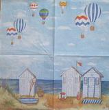 MO 038 - ubrousek 33x33 - domky+balony