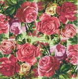 PK 012 - kapesníček 21x21 - růže velké