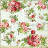 PK 015 - kapesníček 21x21 - růžičky na zeleném