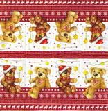 PK 028 - kapesníček 21x21 - vánoční medvídek