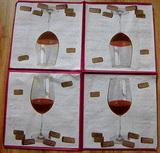 KM 035 - ubrousek 33x33 - víno + kork.zátka-balení 40ks