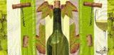 KM 058 - ubrousek 25x25 - zelené víno s vývrtkou