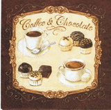 KM 060 - ubrousek 33x33 - coffee a chocolate