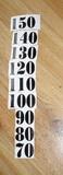 Čísla nalepovací na DM černá typ 18 - vel.1,8cm