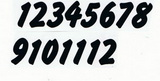 Čísla na hodiny nalepovací černá - typ č.17 -   v.1,9cm