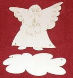 Výřez jmenovka anděl v.15x16cm
