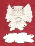 Výřez jmenovka ježíšek s křídly v.8x7,2cm