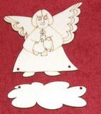 Výřez jmenovka anděl v.8x8,5cm