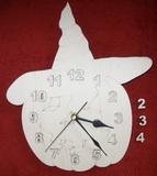 TP3D0286 - Hodiny dýně s kloboukem a s čísly - 26x30cm