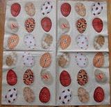 VEL 003 - ubrousek 33x33 - vejce na hnědém
