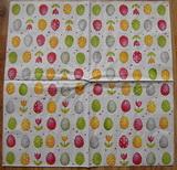 VEL 006 - ubrousek 33x33 - vajíčka na bílém