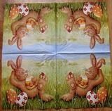 VEL 009 - ubrousek 33x33 - zajíc v trávě
