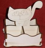 *Stojánek na čaj 4 komory - motiv KOČKA stojící
