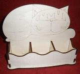 *Stojánek na čaj 6 komor - motiv KOČKA ležící