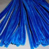 Plyšový drátek 0,8cm/30cm modrá