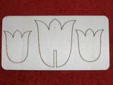 Zápich na špejli  oboustranný - tulipán